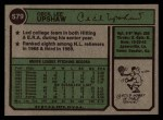1974 Topps #579   Cecil Upshaw Back Thumbnail