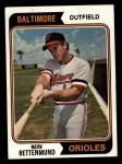 1974 Topps #585   Merv Rettenmund Front Thumbnail
