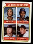 1974 Topps #606  Rookie Outfielders  -  Jim Fuller / Wilbur Howard / Tommy Smith / Otto Velez Front Thumbnail