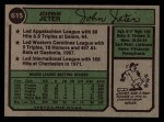 1974 Topps #615   Johnny Jeter  Back Thumbnail