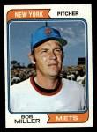1974 Topps #624   Bob Miller Front Thumbnail