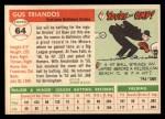 1955 Topps #64   Gus Triandos Back Thumbnail