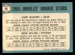 1965 Topps #49   Orioles Rookie Stars  -  Curt Blefary / John Miller Back Thumbnail