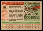 1955 Topps #51  Jim Hughes  Back Thumbnail