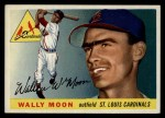 1955 Topps #67 COR Wally Moon  Front Thumbnail