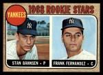 1968 Topps #214  Yankees Rookies  -  Stan Bahnsen / Frank Fernandez Front Thumbnail