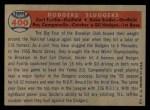 1957 Topps #400  Dodgers' Sluggers  -  Carl Furillo / Gil Hodges / Roy  Campanella / Duke Snider Back Thumbnail