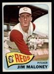 1965 Topps #530   Jim Maloney Front Thumbnail