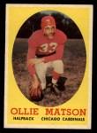 1958 Topps #127  Ollie Matson  Front Thumbnail