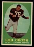 1958 Topps #52   Lou Groza Front Thumbnail