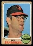 1968 Topps #163   Gene Brabender Front Thumbnail