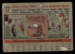 1956 Topps #17  Gene Conley  Back Thumbnail