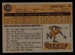 1960 Topps #152   Gail Harris Back Thumbnail