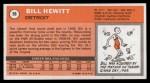 1970 Topps #56   Bill Hewitt  Back Thumbnail