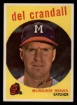 1959 Topps #425   Del Crandall Front Thumbnail