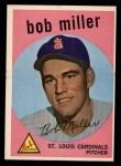 1959 Topps #379  Bob Miller  Front Thumbnail