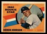 1960 Topps #134   -  Deron Johnson Rookies Front Thumbnail