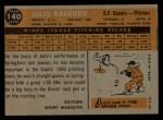 1960 Topps #140   -  Julio Navarro Rookies Back Thumbnail