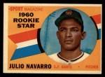 1960 Topps #140   -  Julio Navarro Rookies Front Thumbnail
