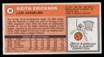 1970 Topps #38   Keith Erickson  Back Thumbnail