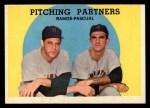 1959 Topps #291  Pitching Partners  -  Pedro Ramos / Camilo Pascual Front Thumbnail