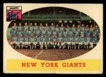 1958 Topps #61  Giants Team  Front Thumbnail