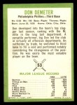 1963 Fleer #53   Don Demeter Back Thumbnail