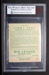 1933 Goudey #29   Jimmie Foxx Back Thumbnail