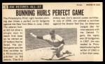1964 Topps Giants #10  Jim Bunning   Back Thumbnail