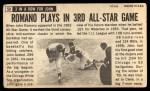 1964 Topps Giants #59   John Romano  Back Thumbnail