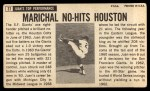 1964 Topps Giants #37   Juan Marichal  Back Thumbnail