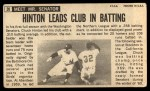 1964 Topps Giants #20  Chuck Hinton   Back Thumbnail