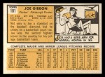 1963 Topps #101  Joe Gibbon  Back Thumbnail