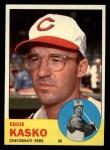 1963 Topps #498   Eddie Kasko Front Thumbnail