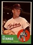 1963 Topps #246  Lee Stange  Front Thumbnail