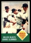 1963 Topps #145   -  Chuck Hiller 1962 World Series - Game #4 - Hiller Blasts Grand Slammer Front Thumbnail