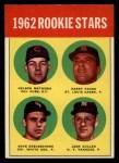 1963 Topps #54 ERR  -  Dave DeBusschere / Nelson Matthews / Harry Fanok / Jack Cullen 1962 Rookies Front Thumbnail