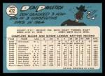 1965 Topps #472   Don Pavletich Back Thumbnail