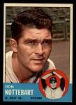 1963 Topps #204   Don Nottebart Front Thumbnail