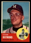 1963 Topps #519  Claude Raymond  Front Thumbnail