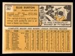 1963 Topps #262   Ellis Burton Back Thumbnail