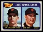 1965 Topps #497   Giants Rookie Stars  -  Ken Henderson / Jack Hiatt Front Thumbnail