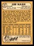 1968 Topps #324  Jim Nash  Back Thumbnail