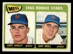 1965 Topps #449   Mets Rookie Stars  -  Jerry Hinsley / Gary Kroll Front Thumbnail