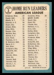 1965 Topps #3  1964 AL Home Run Leaders  -  Harmon Killebrew / Mickey Mantle / Boog Powell Back Thumbnail