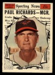 1961 Topps #566  All-Star  -  Paul Richards Front Thumbnail