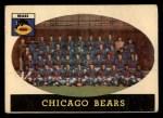 1958 Topps #29  Bears Team  Front Thumbnail