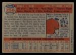 1957 Topps #256  Ron Kline  Back Thumbnail