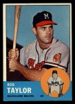 1963 Topps #481  Bob Taylor  Front Thumbnail