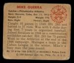 1950 Bowman #157   Mike Guerra Back Thumbnail